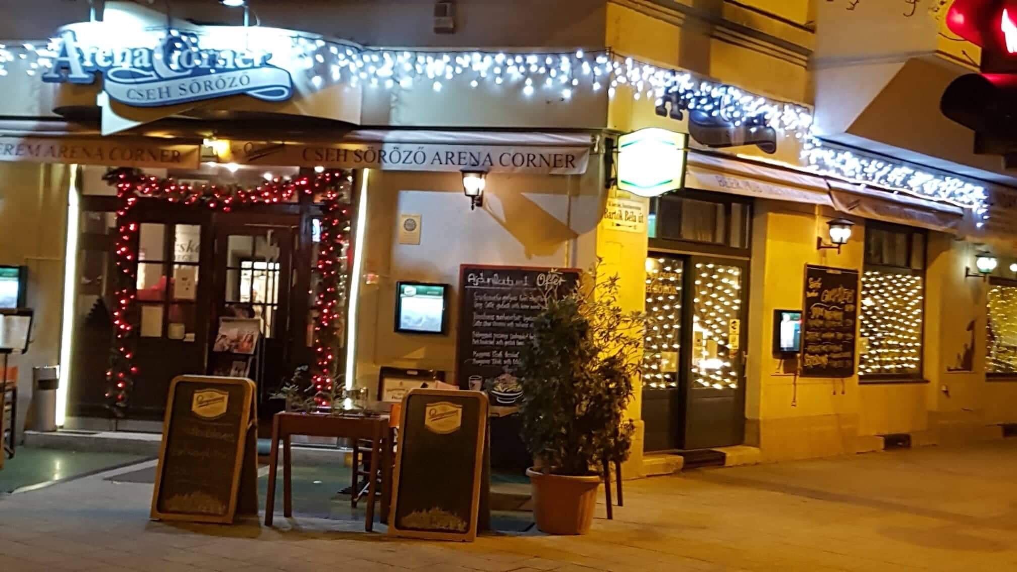 Különös szilveszter Budán  az Arena Corner Cseh étteremben!