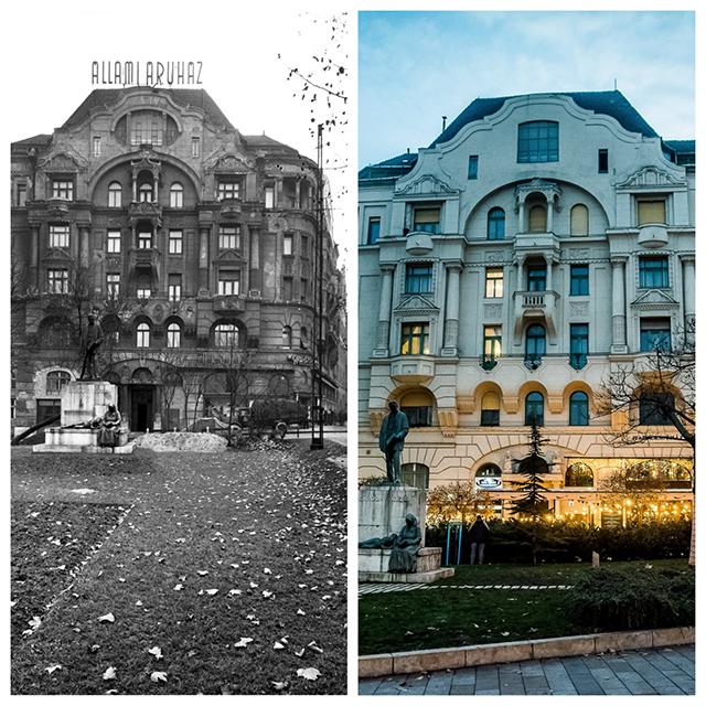 A régi karácsonyi Budapest képeken