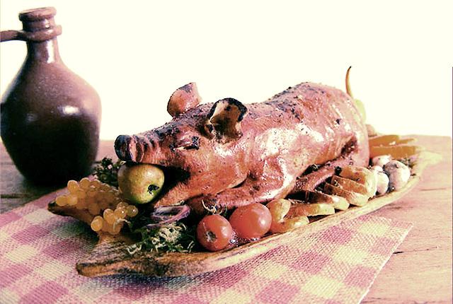 Szerencsét hozó sült malac - forrás: azenpicivilagom.blogspot.com