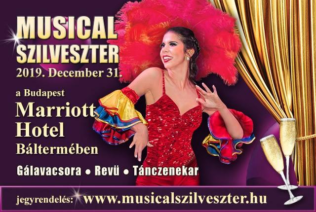 Musical Szilveszter a Budapest Marriott Hotel báltermében