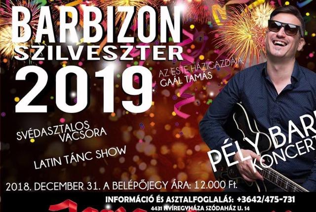 Barbizon Szilveszter 2019 - PÉLY BARNA koncert