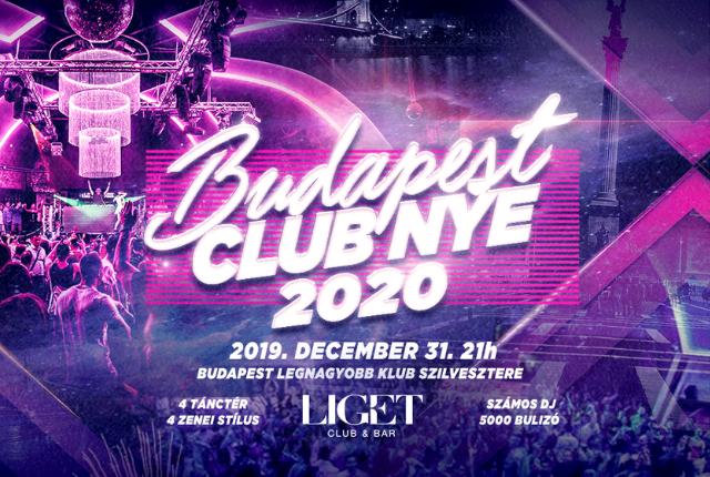 NYE 20 Budapest - A város legnagyobb klub Szilvesztere a Liget Klubban
