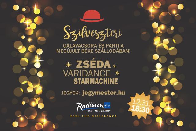 Szilveszteri gálavacsora a budapesti  Radisson Blu Béke Hotelben